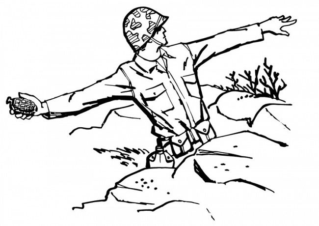 Army Men Coloring Pages