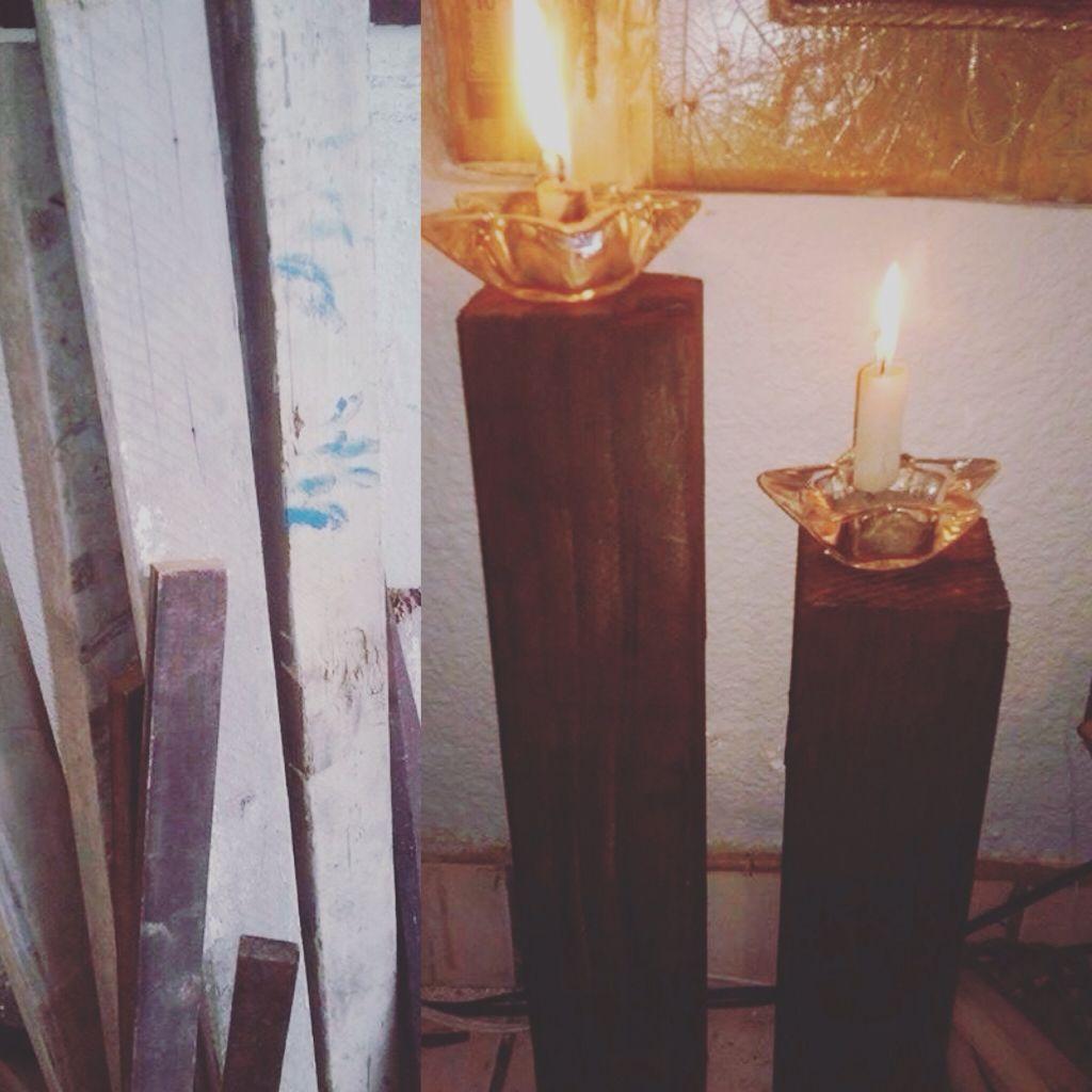 Soporte para velas madera pinterest soportes para velas soporte y velas - Soporte para velas ...
