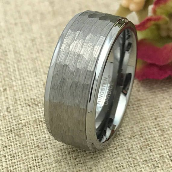 9mm Personalized Tungsten Wedding Band Custom Laser Engraved Promise Ring For Men Anniversary Valentine S
