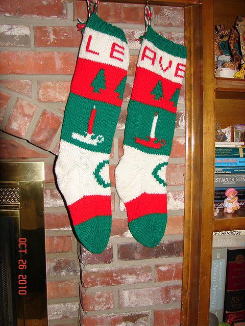 Christmas Stocking Knitting Pattern Ravelry : Ravelry: Bernat Christmas Stocking Pak, Candle Stocking ...