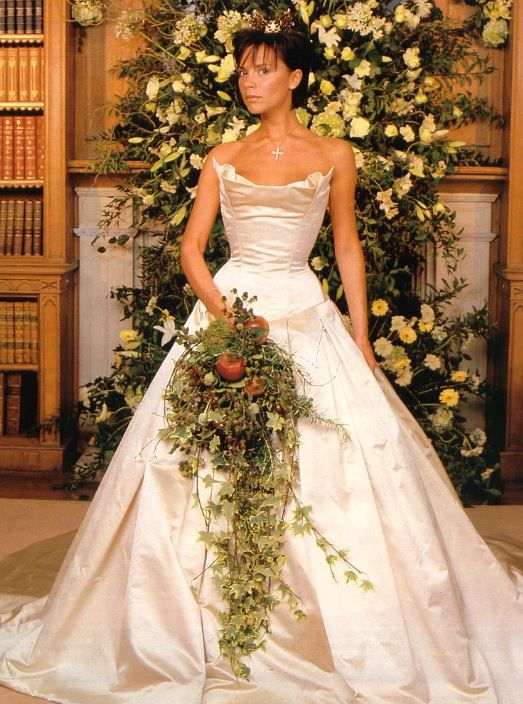 Victoria Beckham Famous Wedding Dresses