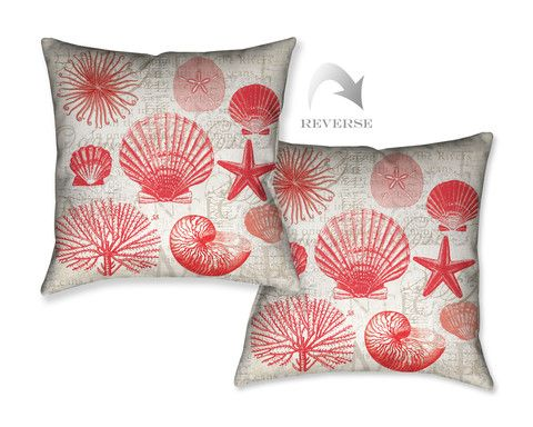 Red Shells I Indoor Decorative Pillow Shell Pillows And Spot Cleaner Beauteous Cleaning Decorative Pillows