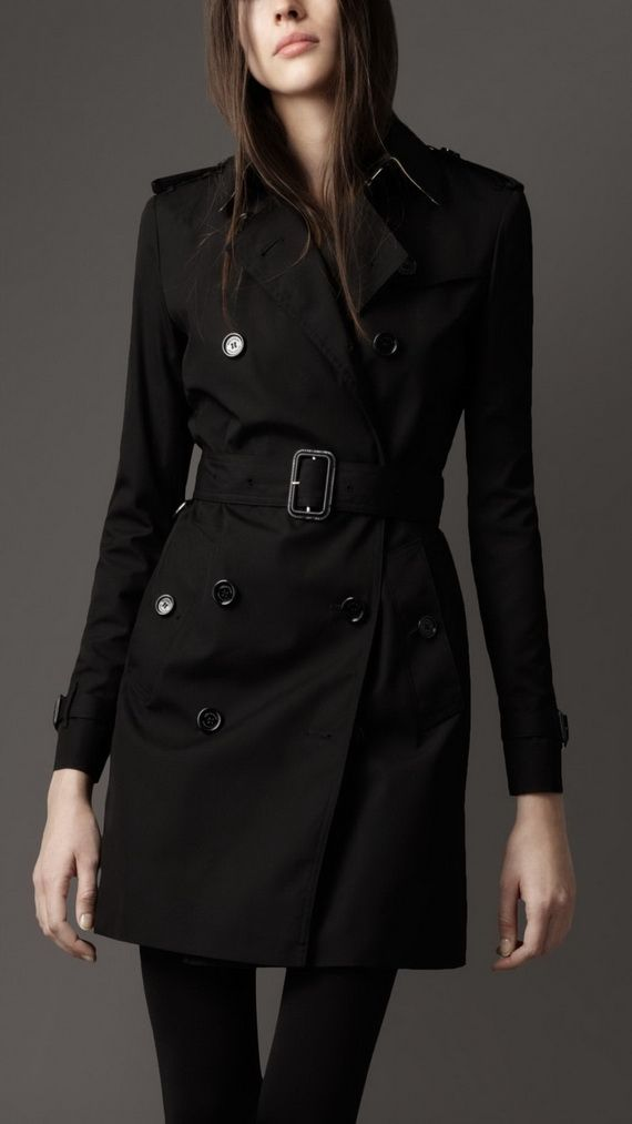 Black Trench Coats for Women!! I really like this coat so much ...