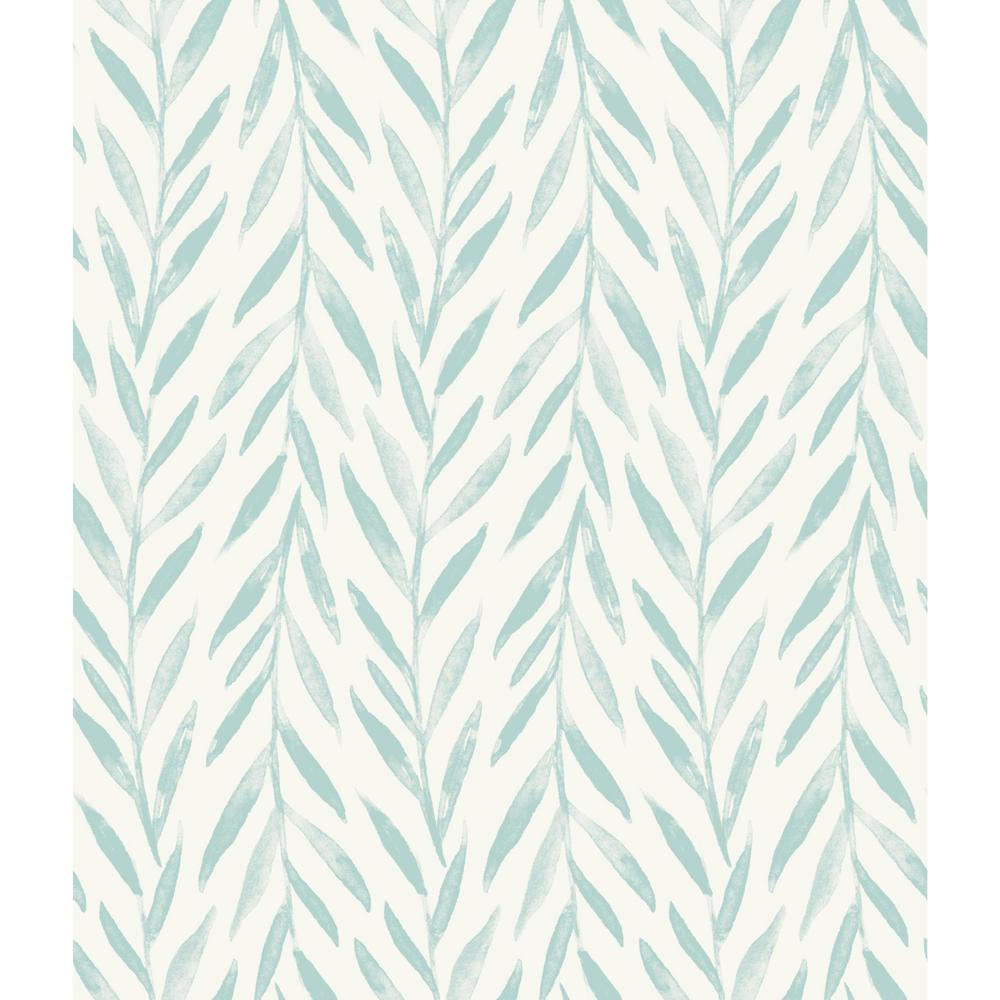 Magnolia Home By Joanna Gaines Willow Blue Premium Peel And Stick Wallpaper Roll Covers 34 Sq Ft Psw1019rl The Home Depot In 2021 Magnolia Homes Joanna Gaines Wallpaper Stripped Wallpaper