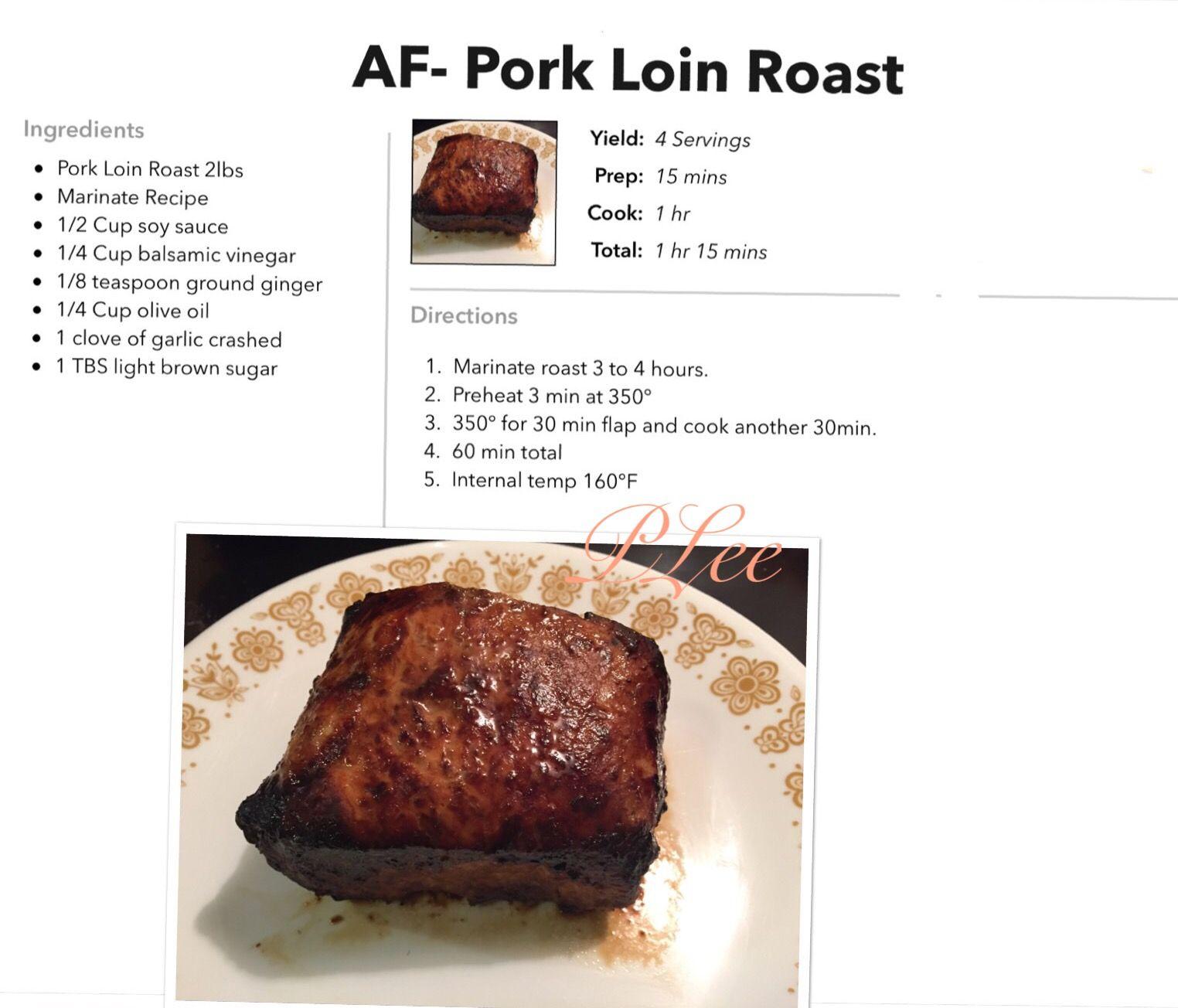 Air Fryer Marinated Pork Loin Roast Air fryer recipes