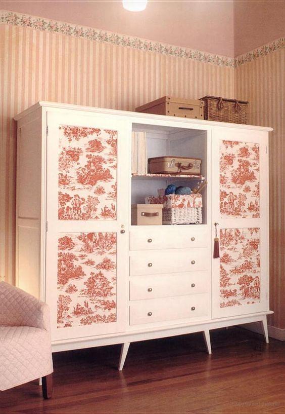 Tela Y Papel Para Transformar Tus Muebles Decoracion De Muebles Muebles Ideas De Muebles Pintados