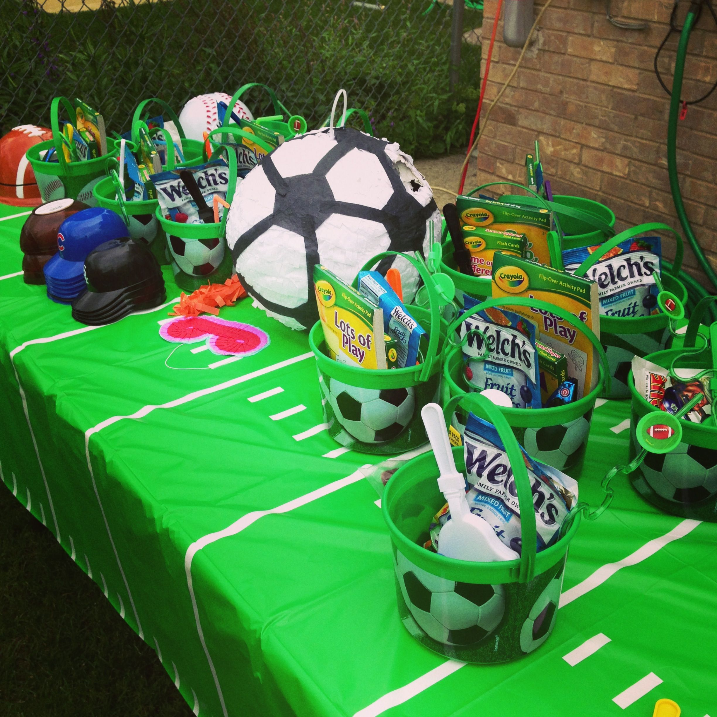 Sports themed party favors kids pinterest
