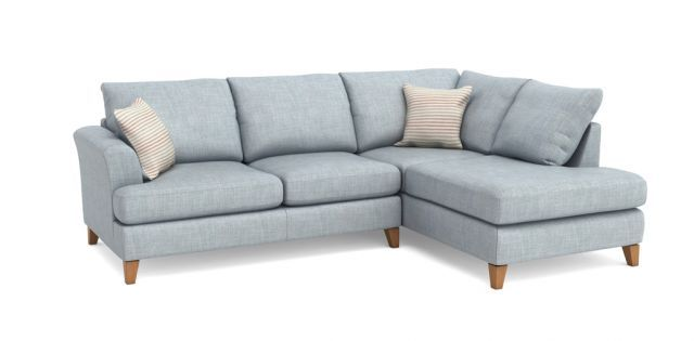 DFS Wrap Fabric Corner Sofa Sale Price £899 | Plot 41 | Corner sofa ...