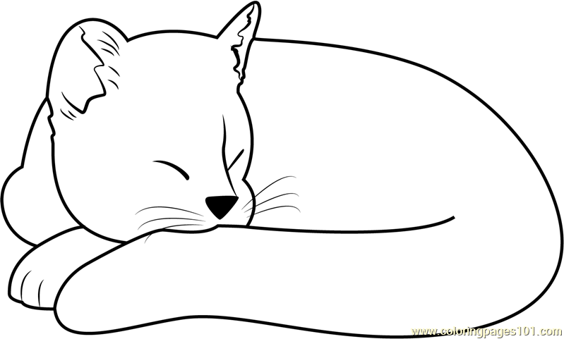 Ginger Cat Sleeping Coloring Page Free Pages Rhpinterest: Ginger Cat Coloring Pages At Baymontmadison.com