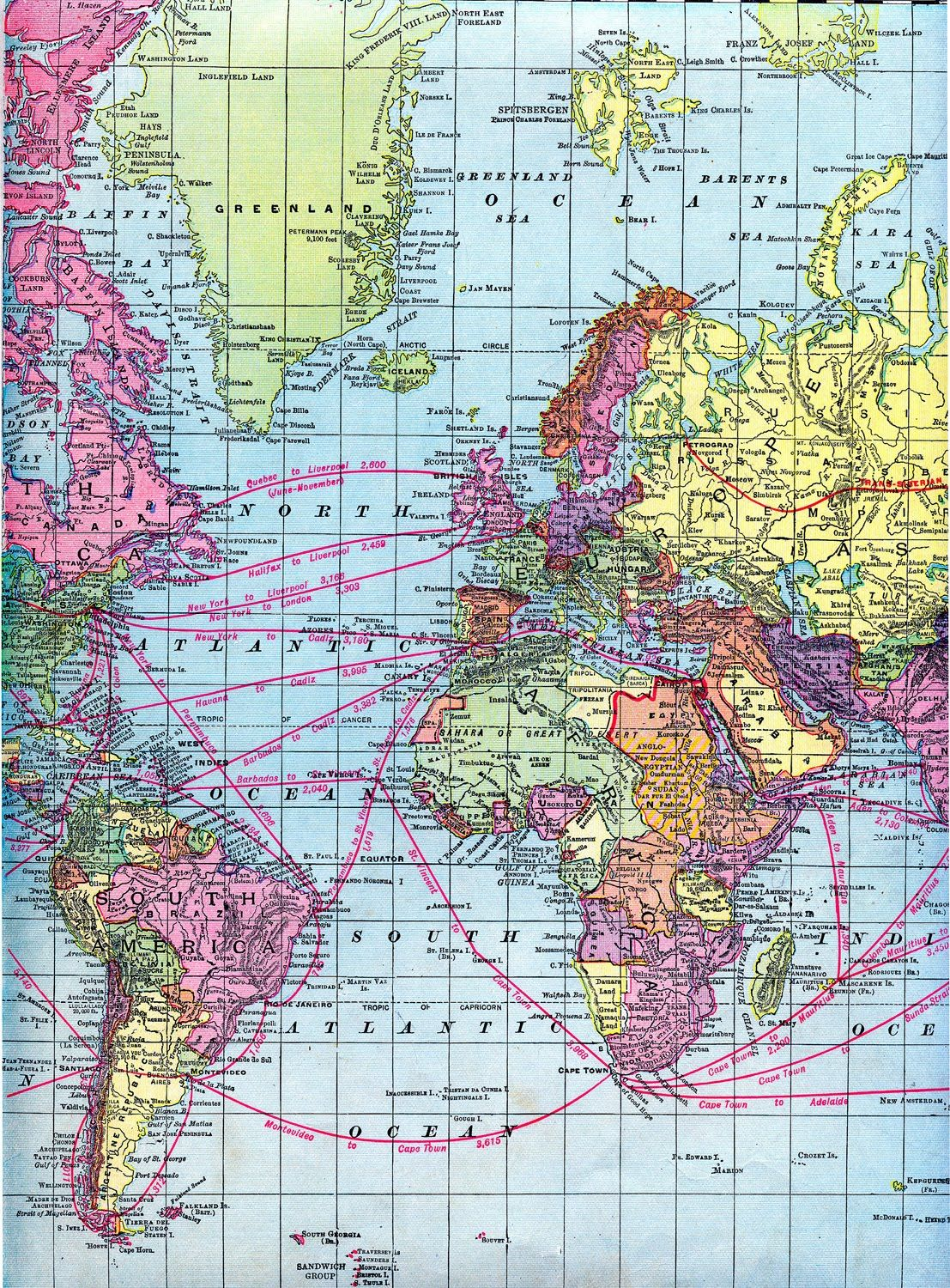 Vintage clip art world maps printable download mapas click here for the full size printable pdf for the first map click here for the gumiabroncs Gallery