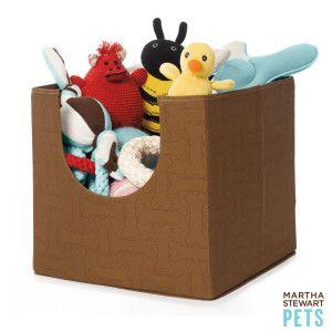 Martha Stewart Pets Pet Toy Storage Bin Toy Boxes Petsmart