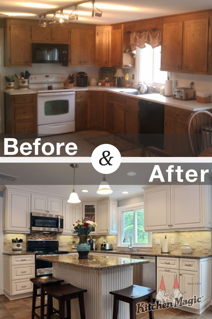 This Week We Are Featuring A Kitchen That Was Transformed From Dark To Light The Cabinets We Kitchen Remodel Small Kitchen Remodeling Projects Kitchen Design