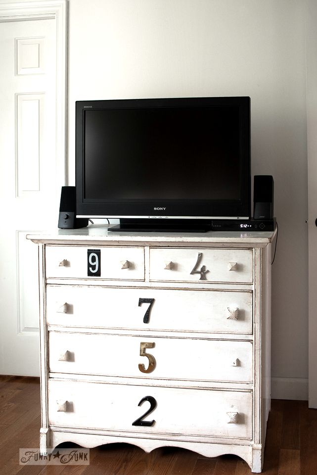 Subway Sign Styled Tv Stand Dresser With Reclaimed Wood Shelf