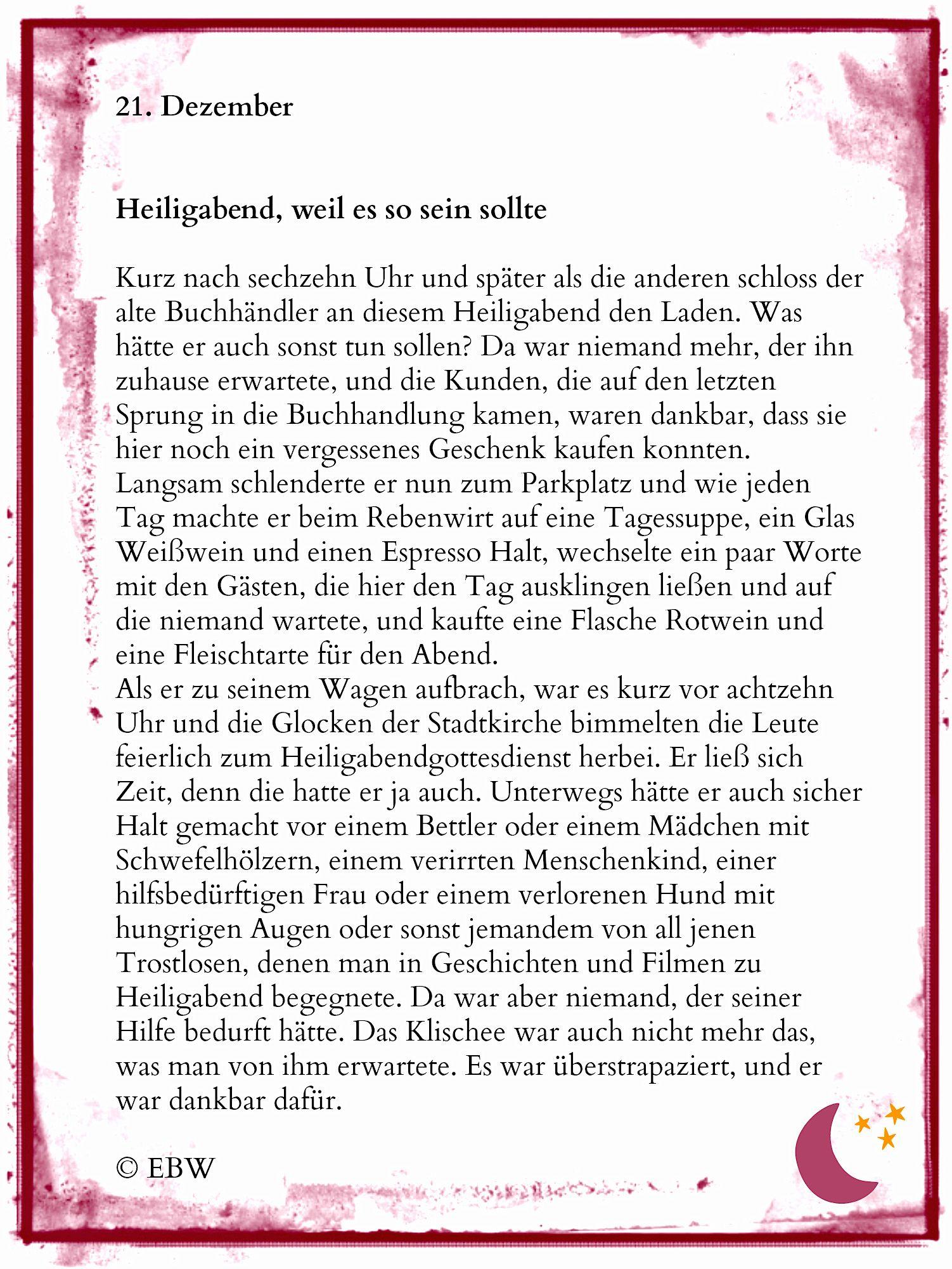 kurze Adventskalendergeschichte | Winterzeit | Gedichte zu ...