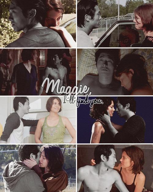 Image de glenn, the walking dead, and Maggie