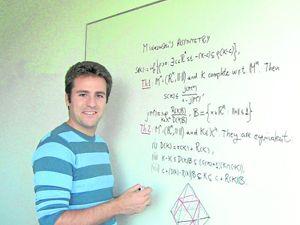 «Esta beca supone una oportunidad única de impulsar mi carrera científica»  Bernardo González Merino, doctor en Matemáticas por la Universidad de Murcia.