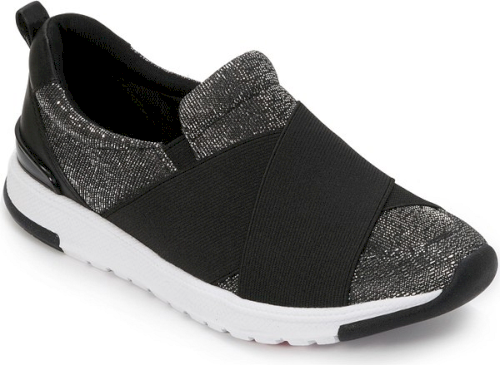 492747ef63 A glittering finish adds eye-catching glamour to a slip-on sneaker  engineered for shock-absorbing all-day comfort..  shoes fashion style  stylish trendy