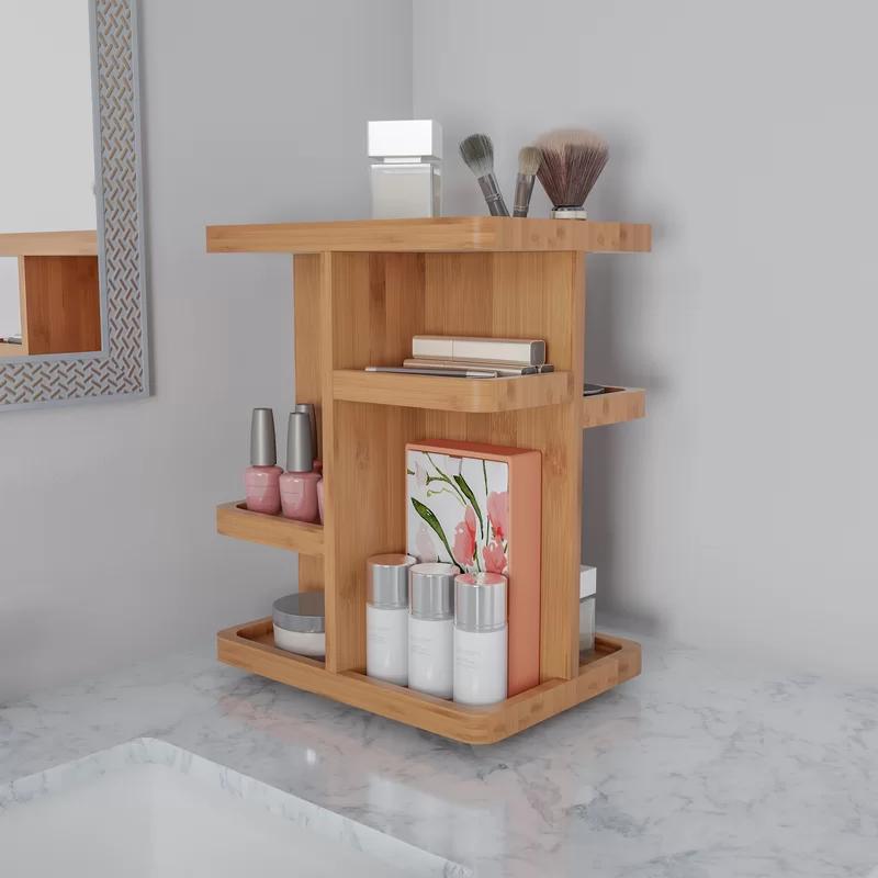 Rotating Rectangular Tabletop Makeup Organizer in 2020