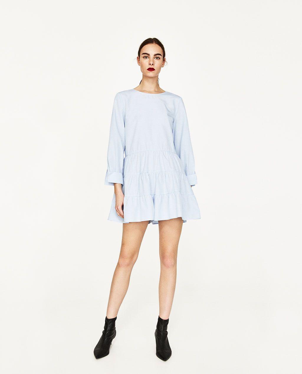 image 1 of frilled jumpsuit from zara shopping summer. Black Bedroom Furniture Sets. Home Design Ideas
