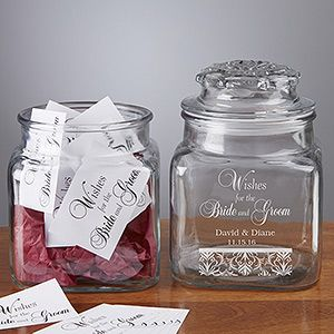 Wedding Wishes In A Personalized Jar