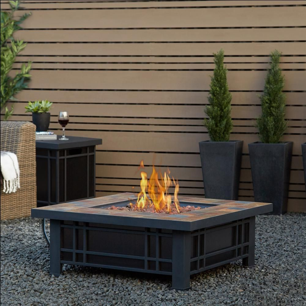 Morrison Square Propane Fire Pit Propane Fire Pit Table Fire