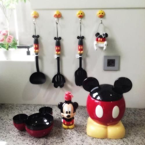 Pin by suzy rafferty on disney in 2019 disney kitchen - Disney mickey mouse bathroom decor ...