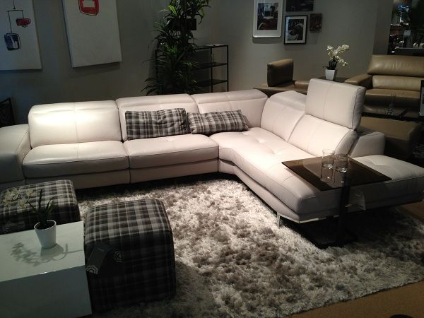 white leather sectional with adjustable back by htl furniture rh pinterest com