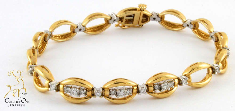 Diamond Bracelet 14K Yellow .75ctw