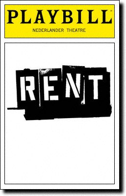 Google Image Result For Http Www Playbillvault Com Images Cover R E Rent Playbill 10 98 Jpg Broadway Playbills Playbill Broadway Posters