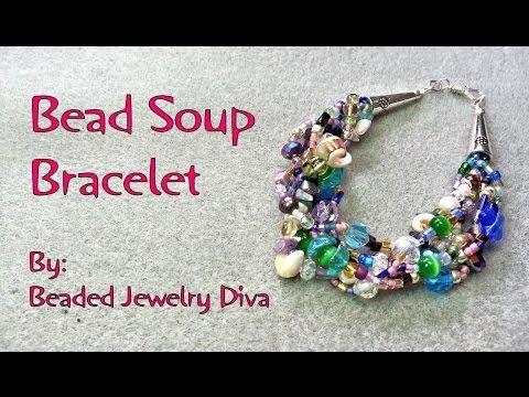 Bead Soup Bracelet - Beaded Bracelet Tutorial - YouTube | DIY ...