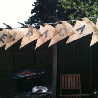 My bunting drying on the line