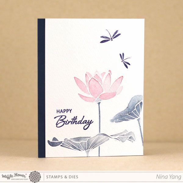 lotus stamp set paper crafts pinterest lotus birthdays and cards