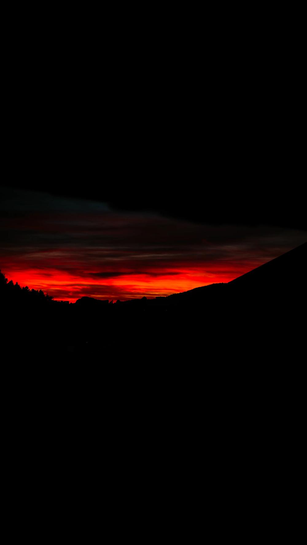 Mountain During Golden Hour Photo Free Nature Image On Unsplash Black Aesthetic Wallpaper Dark Red Wallpaper Red And Black Wallpaper