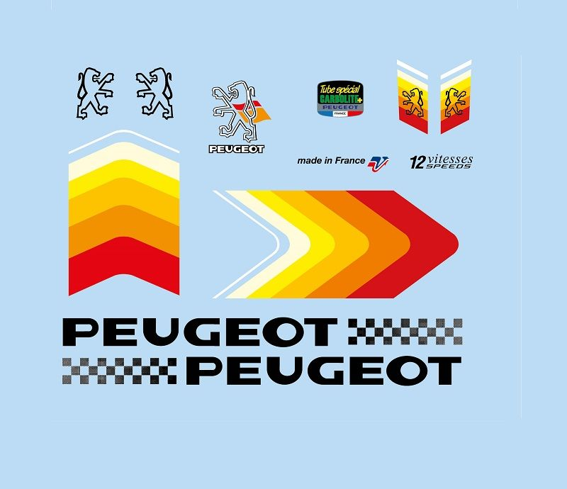 Bicycle Decals For Vintage Classic Contemporary Peugeot Cycles Peugeot Bike Bike Logo Peugeot