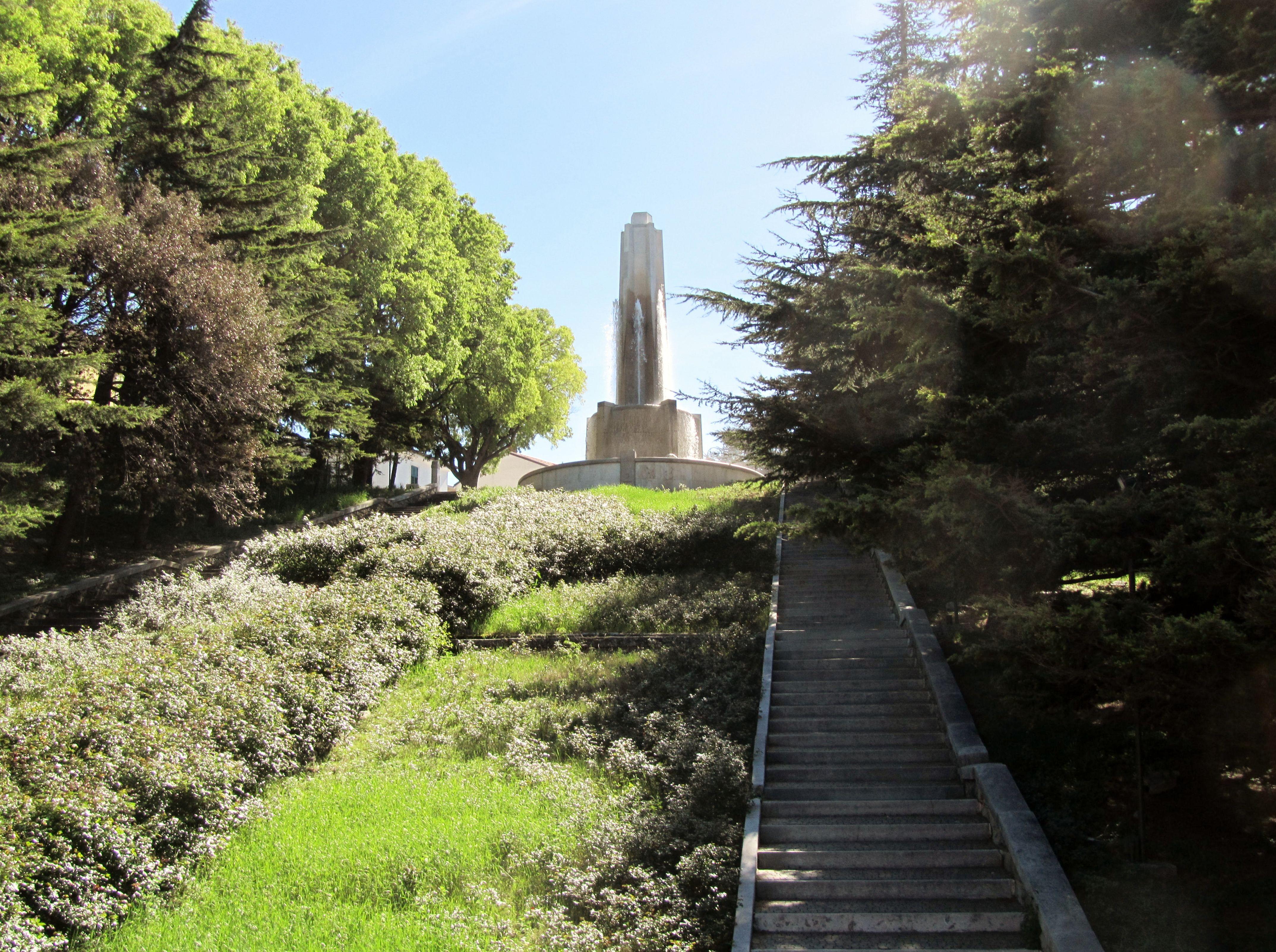 questa è la fontana della scala dei giganti a Trieste