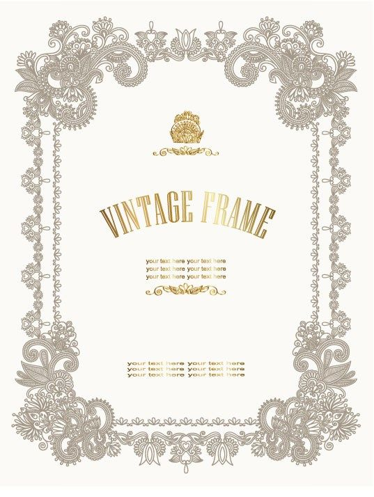 European style Decorative pattern Certificate Template vector 01 - certificate borders for word