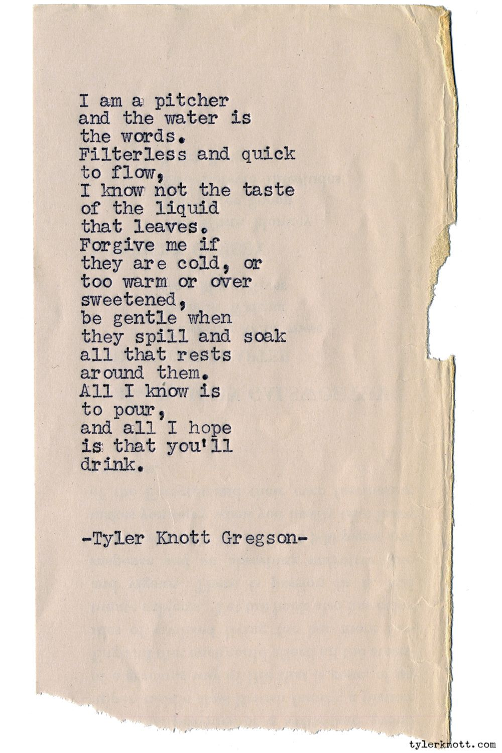 Typewriter Series 1230 By Tyler Knott Gregson Chasers Of The