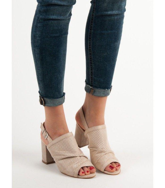 be23c29b9f327 Dierkované sandále na stĺpci | Dámske sandále | Heeled mules, Shoes ...