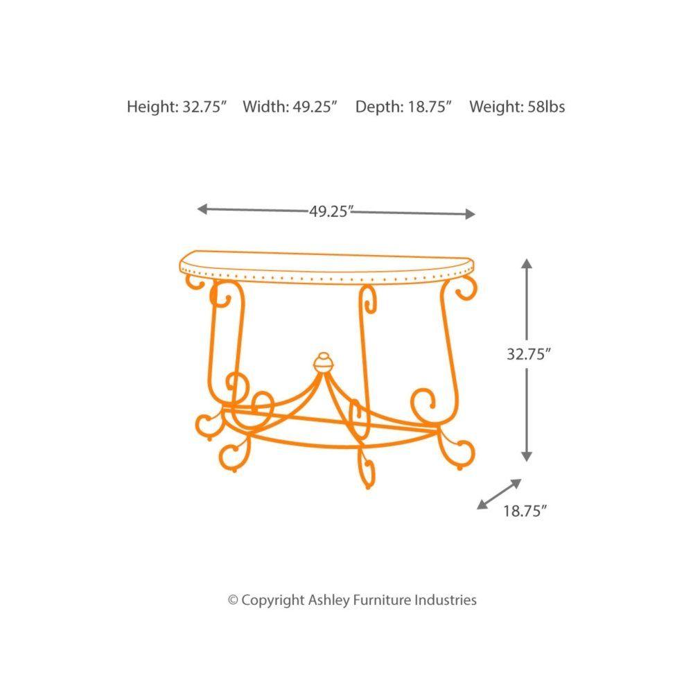 ashley furniture signature design rafferty sofa table traditional rh pinterest com Ashley Furniture Console Sofa Table North Shore Sofa Collection