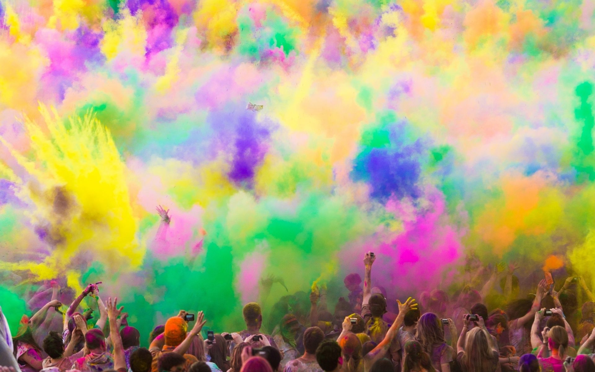 colorful paint smoke party (1920×1200) | color my world