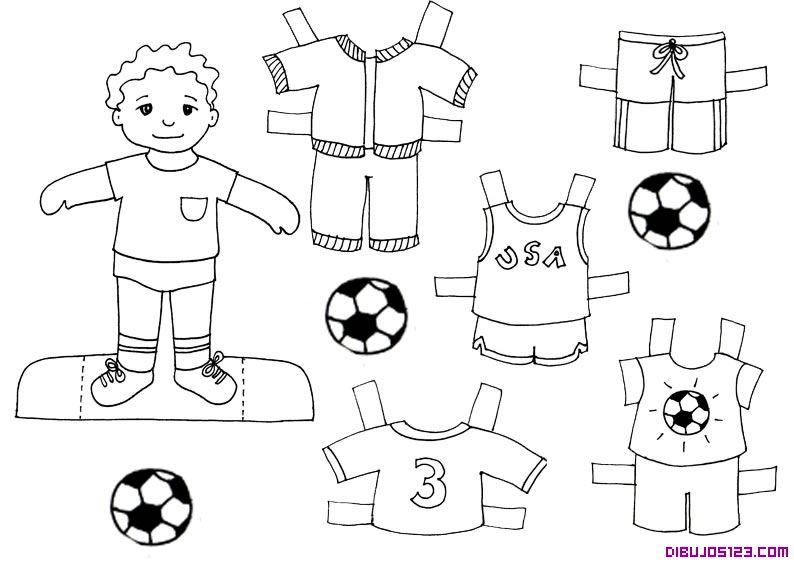 Dibujos Para Colorear De Camisetas De Futbol Imagui Paklaedningsdukke Undervisning Legetoj