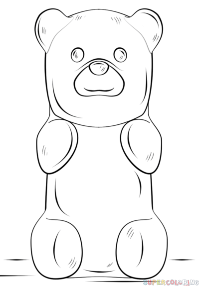 8f52d89b3 How to draw a gummy bear step by step. Drawing tutorials for kids and  beginners.