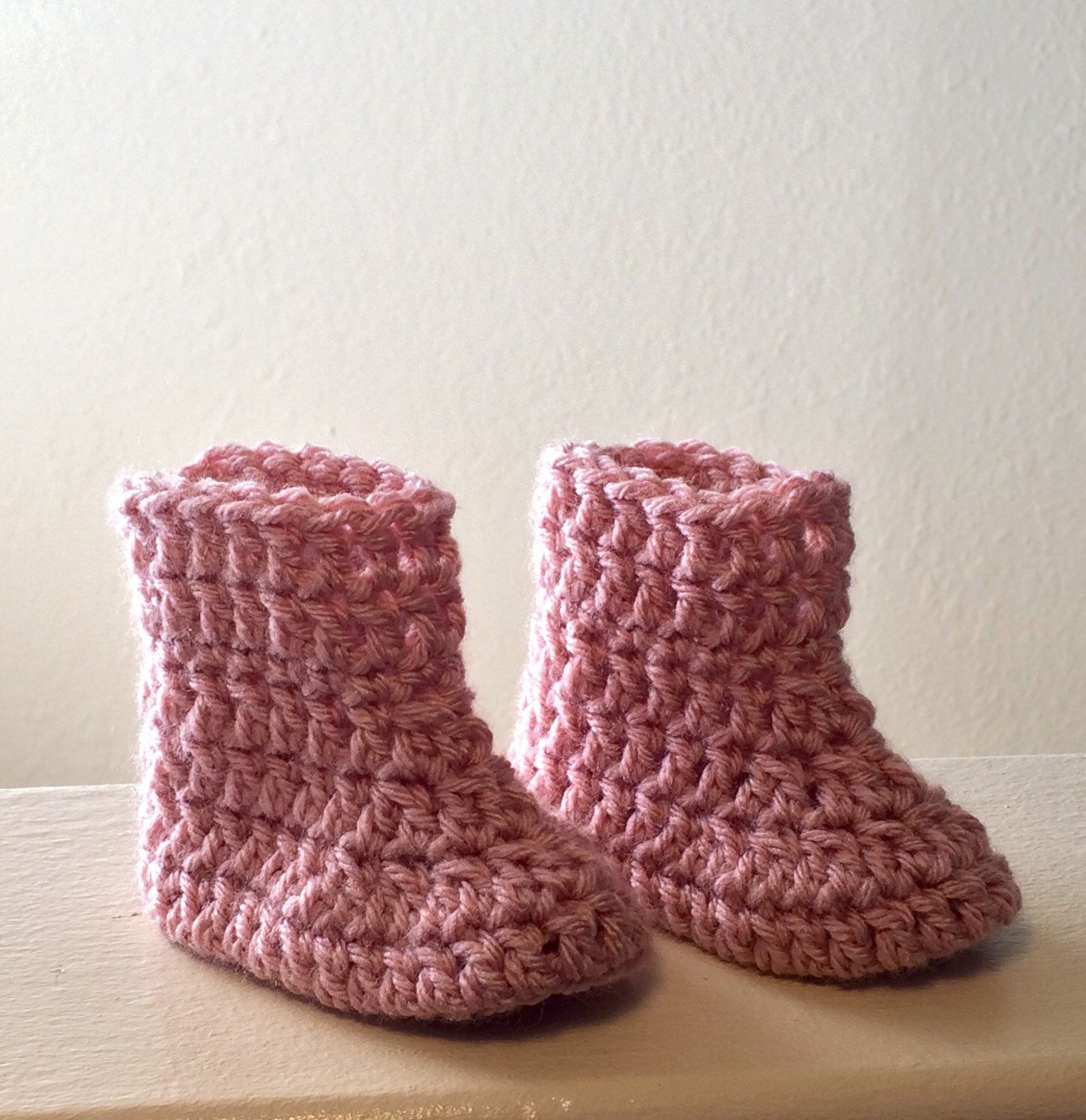 A personal favorite from my Etsy shop https://www.etsy.com/listing/225256739/rosy-pink-baby-boots-with-foldover-cuffs