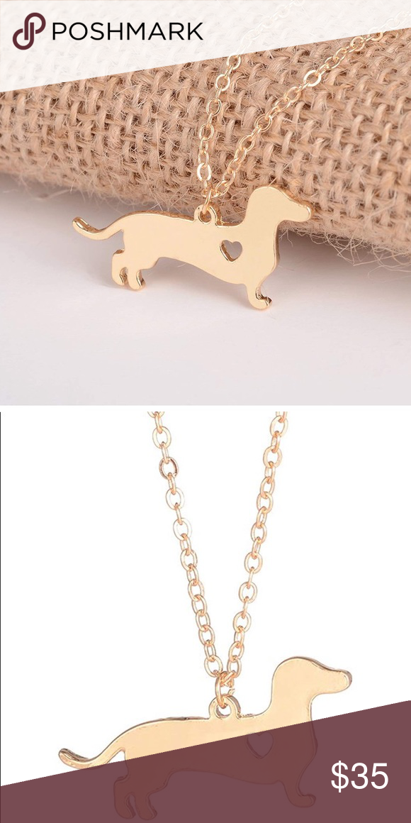 Dachshund necklace So cute Pendant Size: 33*16 mm, Chain