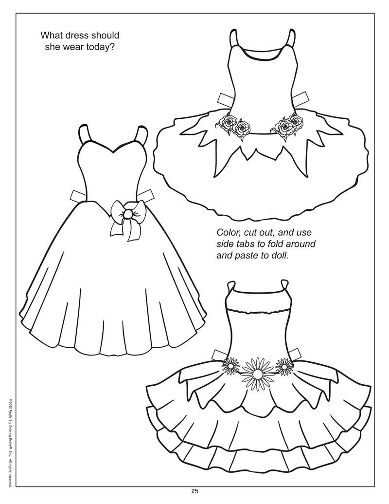 Find Paper Doll Printouts And Color Clothes For Them K