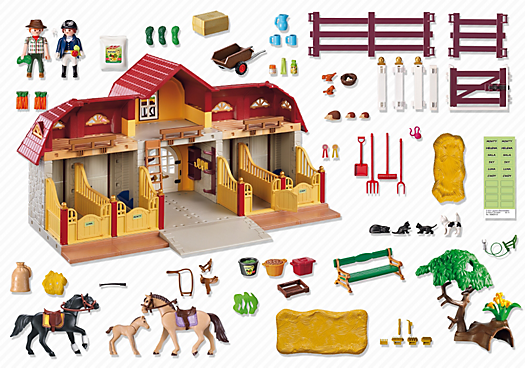 Large Horse Farm With Paddock 5221 Horse Farms Horses Playmobil