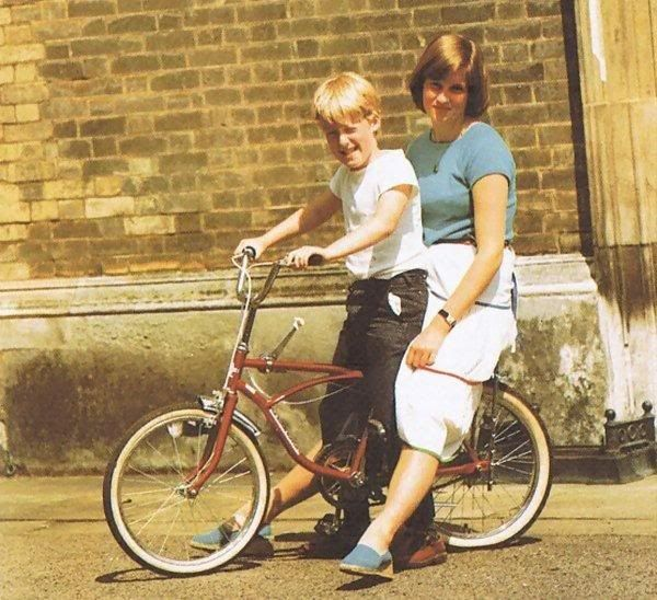Lady Diana Spencer and her brother, Charles