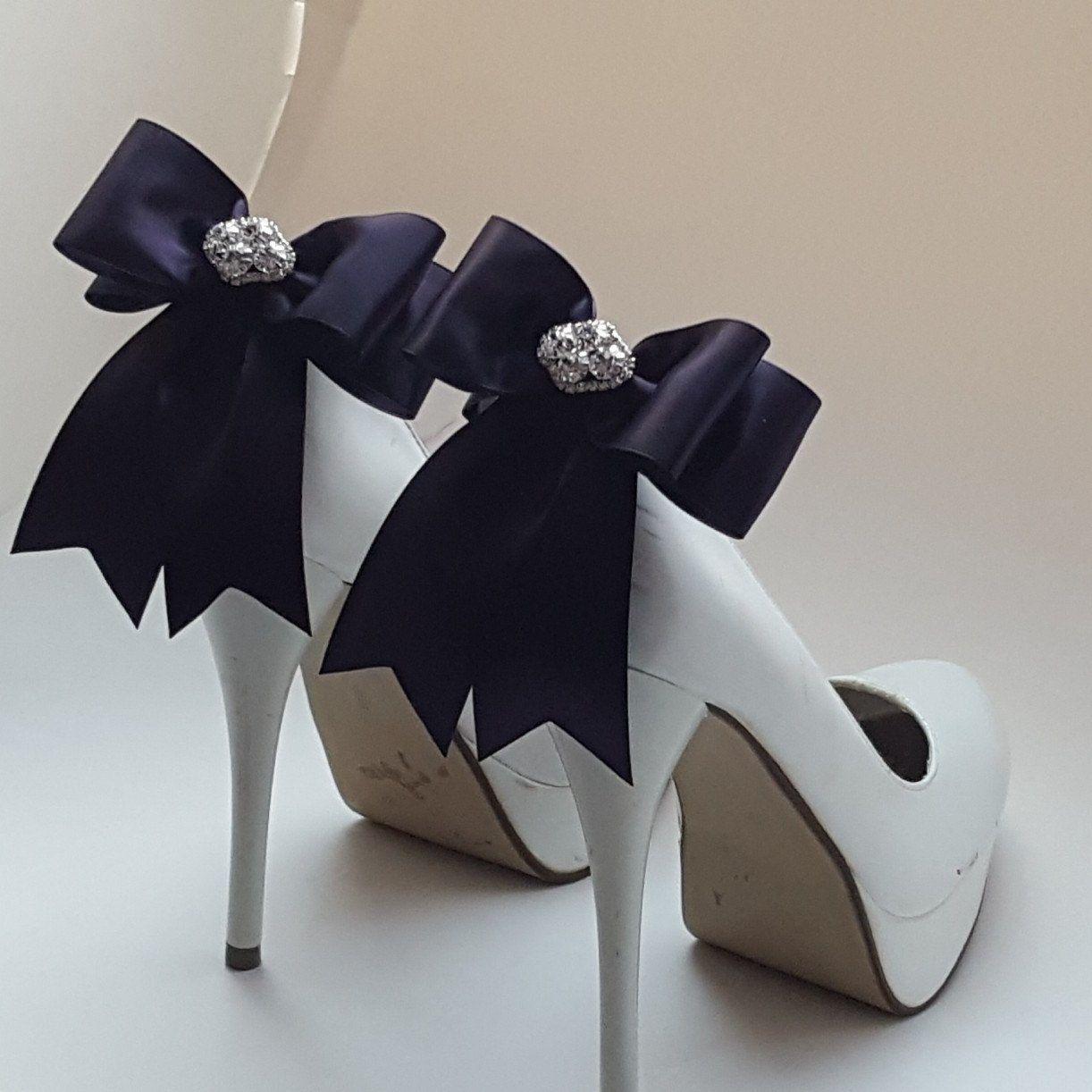 1540390a2fb66 Dusty Plum Wedding Shoe Clips