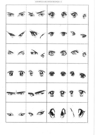 Ejemplos de ojos para animed