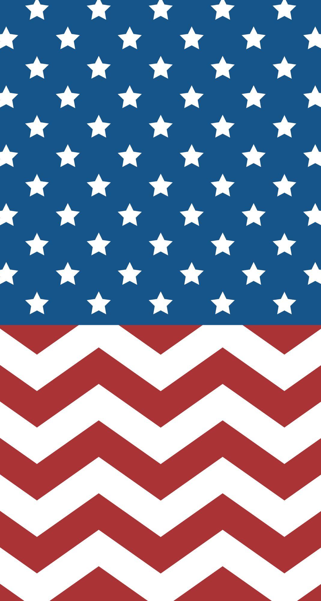 American flag/chevron iPhone wallpaper Pinterest